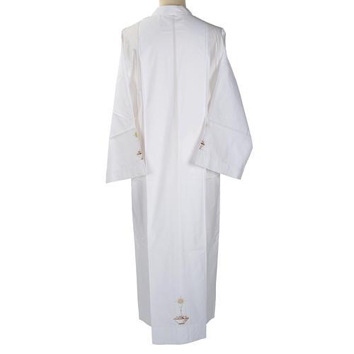 Camice bianco cotone calice pane 4