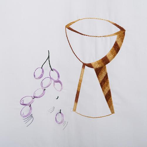 Camice bianco cotone calice uva 2