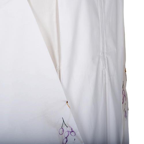 Camice bianco cotone calice uva 3