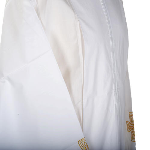 White alb cotton gold cross 3