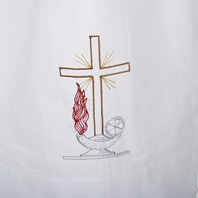 Camice bianco cotone croce e lampada s2