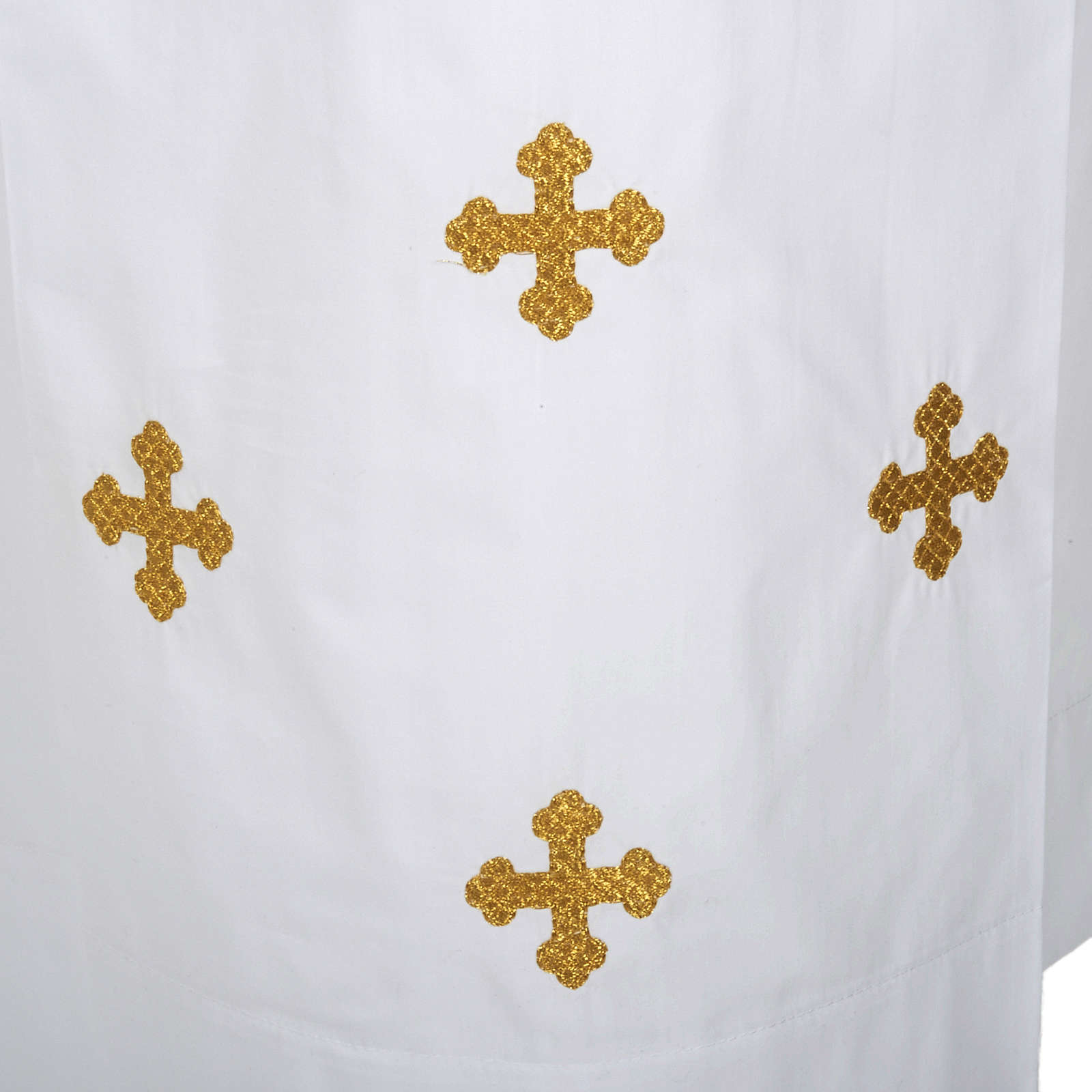 White alb cotton cross motif 4