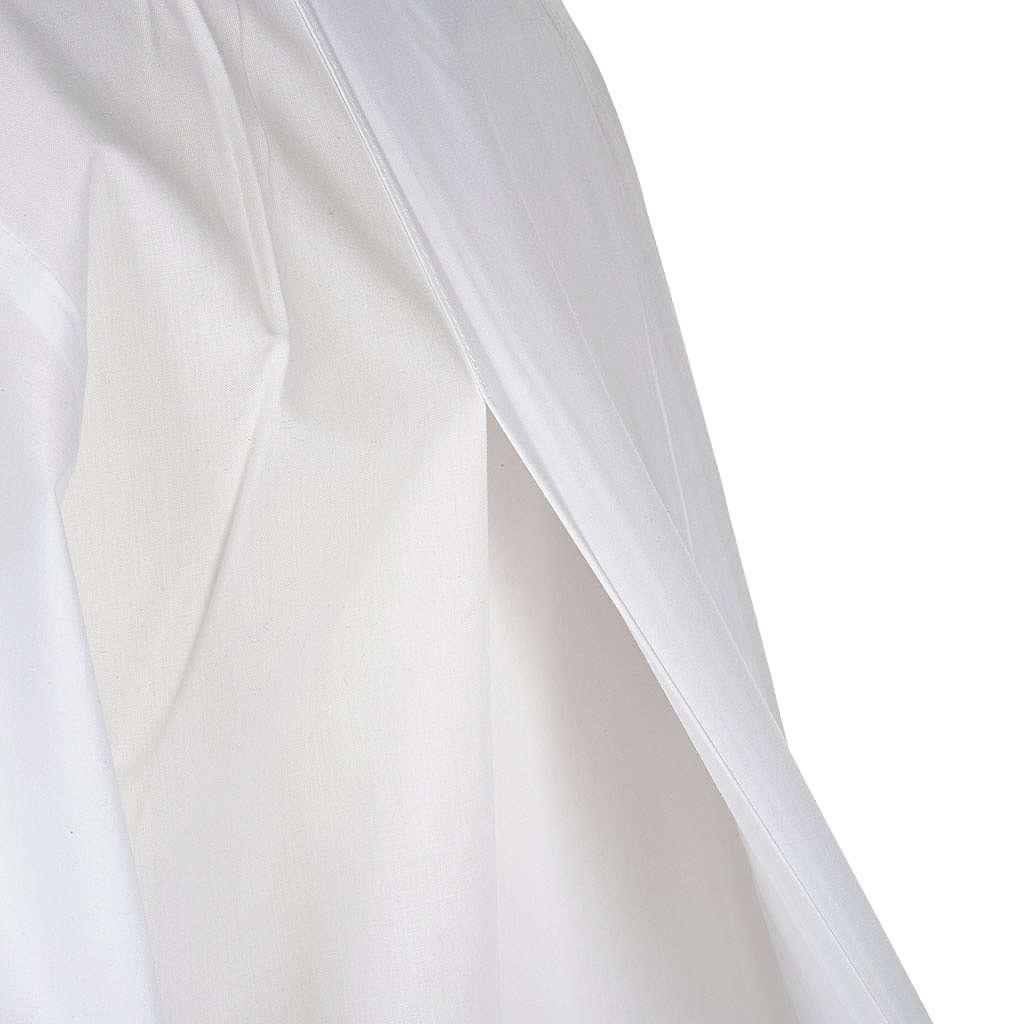 Alba blanca en algodón cruces decoradas 4