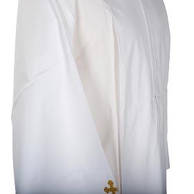 Alba blanca en algodón cruces decoradas s3