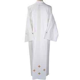 Alba blanca en algodón cruces decoradas s4
