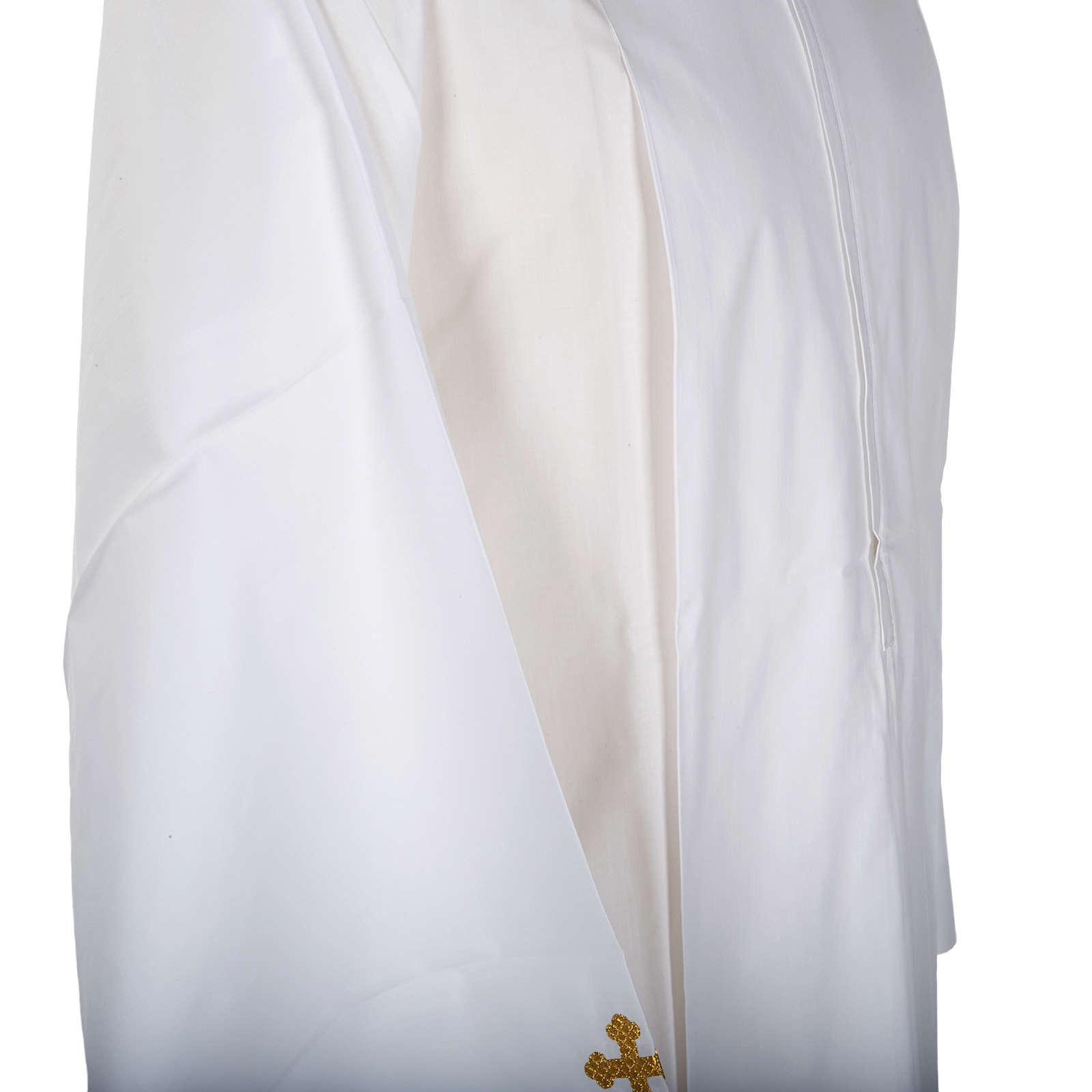 Camice bianco cotone croci decorate 4