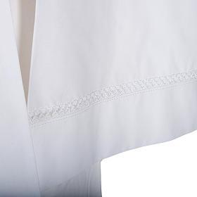 Alba blanca en algodón con decoraciones blancas s2