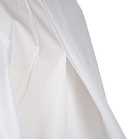 Alba blanca en algodón con decoraciones blancas s6