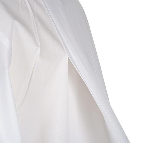 Alba blanca en algodón con decoraciones blancas 6