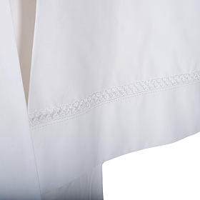 Camice bianco cotone decori bianchi s2