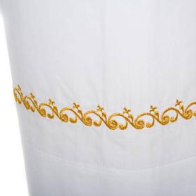 Camice bianco cotone decori dorati s3