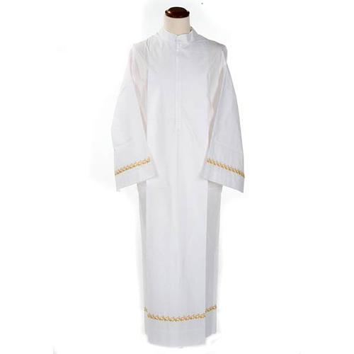 Camice bianco cotone decori dorati 1