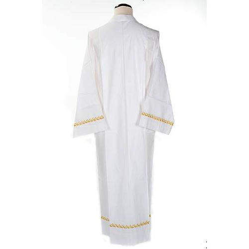 Camice bianco cotone decori dorati 2