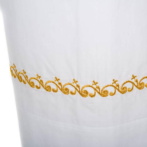 Camice bianco cotone decori dorati 3