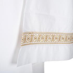 Camice bianco cotone decori torciglioni s2