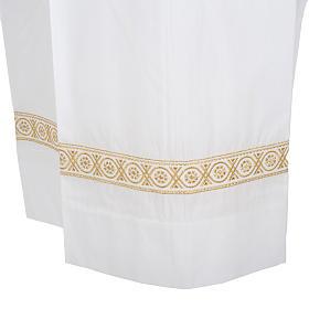 Camice bianco cotone decori torciglioni s3