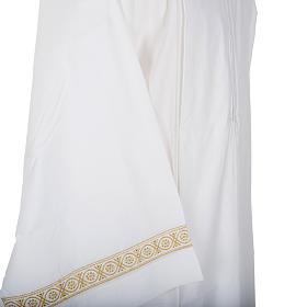 Camice bianco cotone decori torciglioni s4