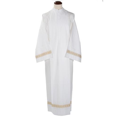Camice bianco cotone decori torciglioni 1