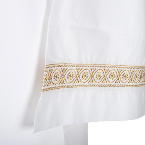 Camice bianco cotone decori torciglioni 2