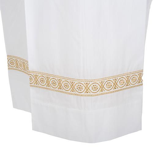 Camice bianco cotone decori torciglioni 3