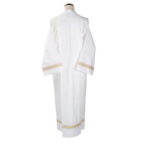 Camice bianco cotone decori torciglioni 5