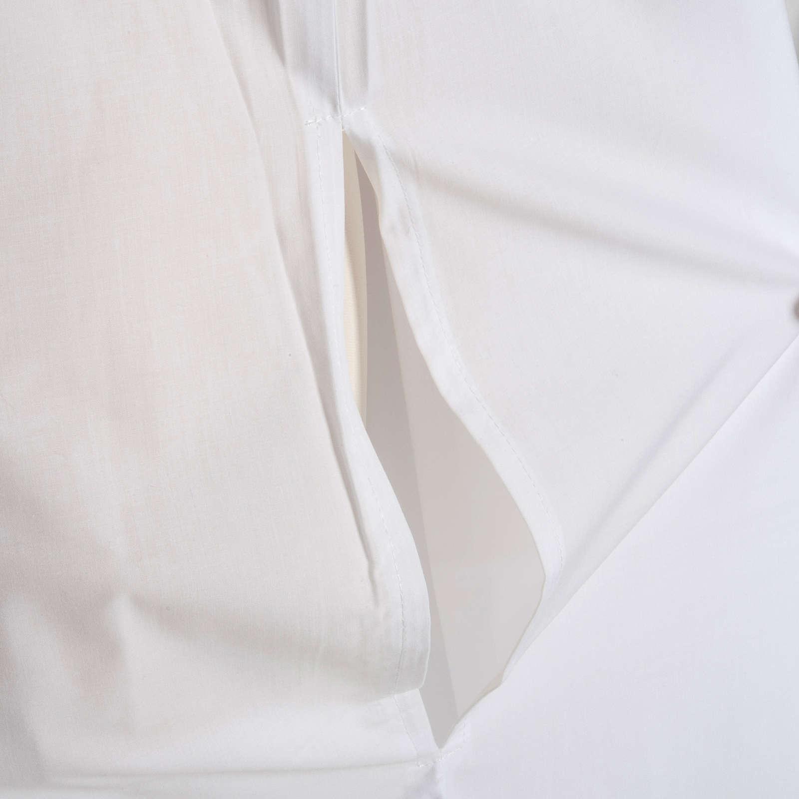 Alba blanca en algodón con rodete dorados 4