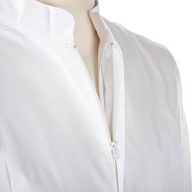 Alba blanca en algodón con rodete dorados s7