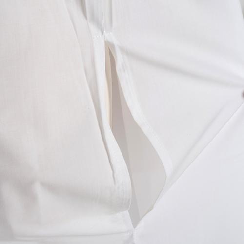 Alba blanca en algodón con rodete dorados 6