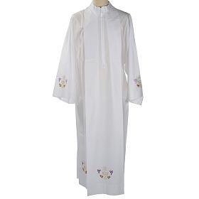 Camice bianco lana calice uva spighe s1