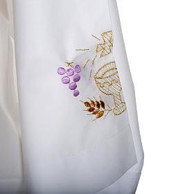 Camice bianco lana calice uva spighe s4