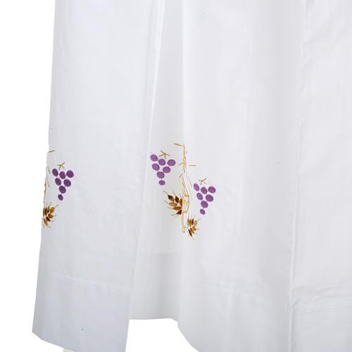 Camice bianco lana calice uva spighe 5