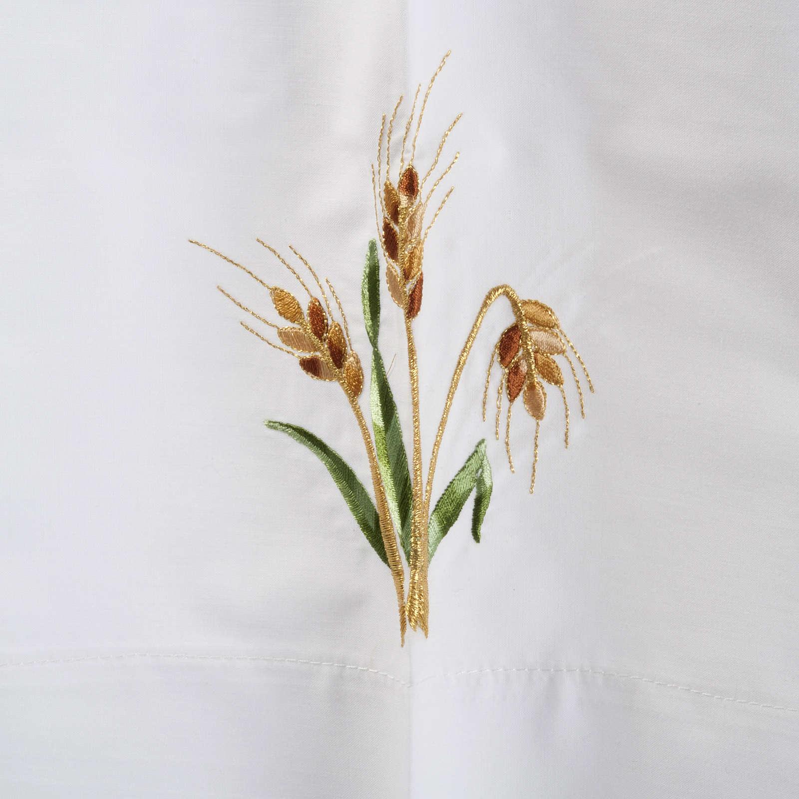White alb in wool, paten, grapes, ears of wheat 4