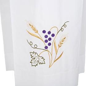 Alba blanca de lana espigas y uva s2