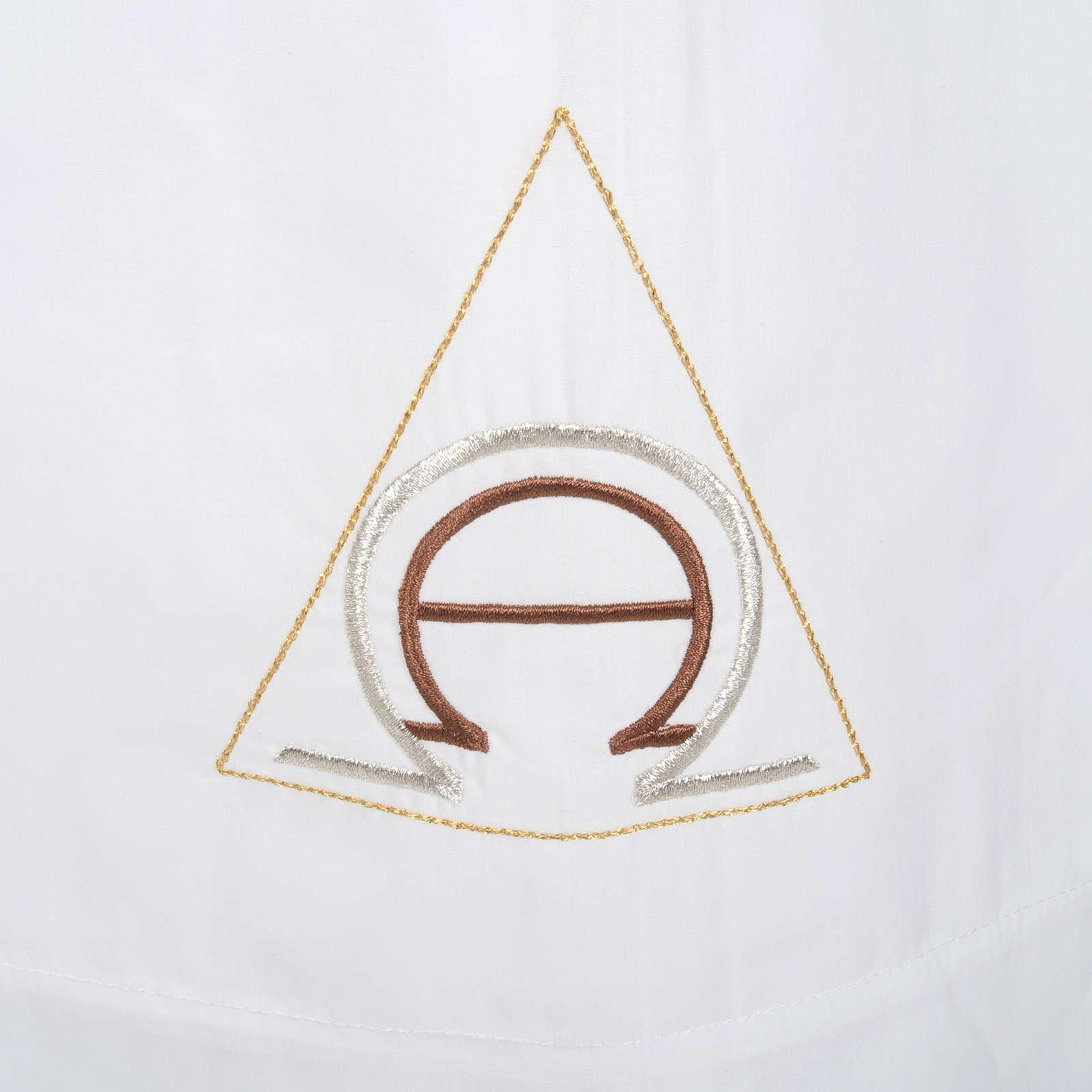 Alba blanca de lana alfa y omega 4