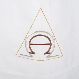 Alba blanca de lana alfa y omega s2