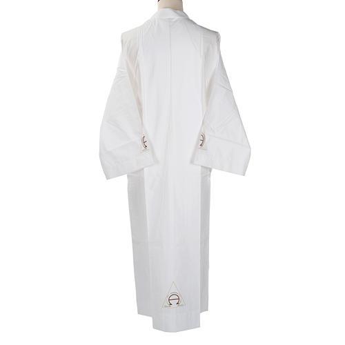 Alba blanca de lana alfa y omega 3