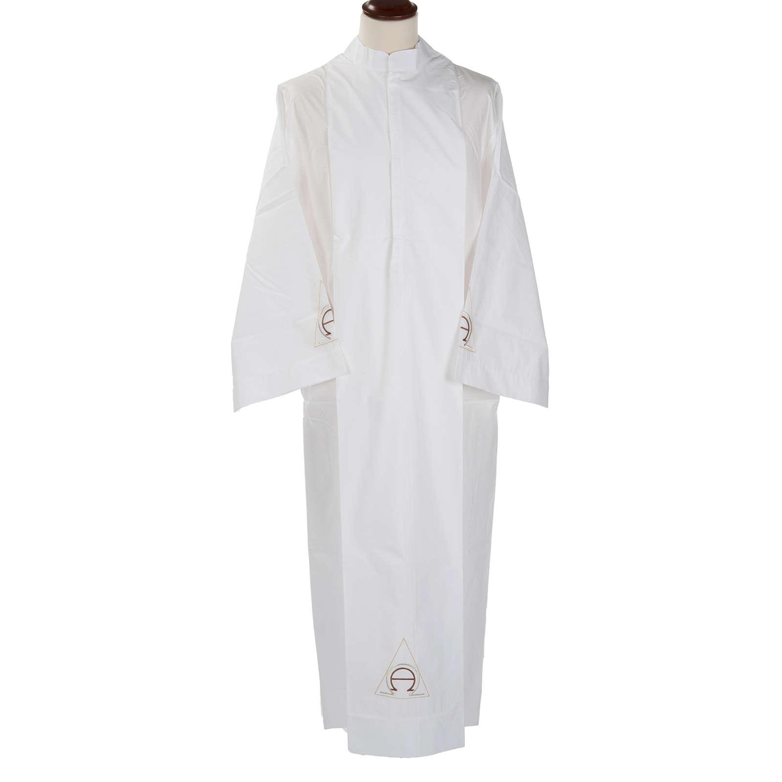 Camice bianco lana alfa e omega 4