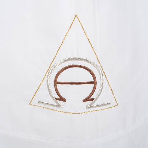 Camice bianco lana alfa e omega 2