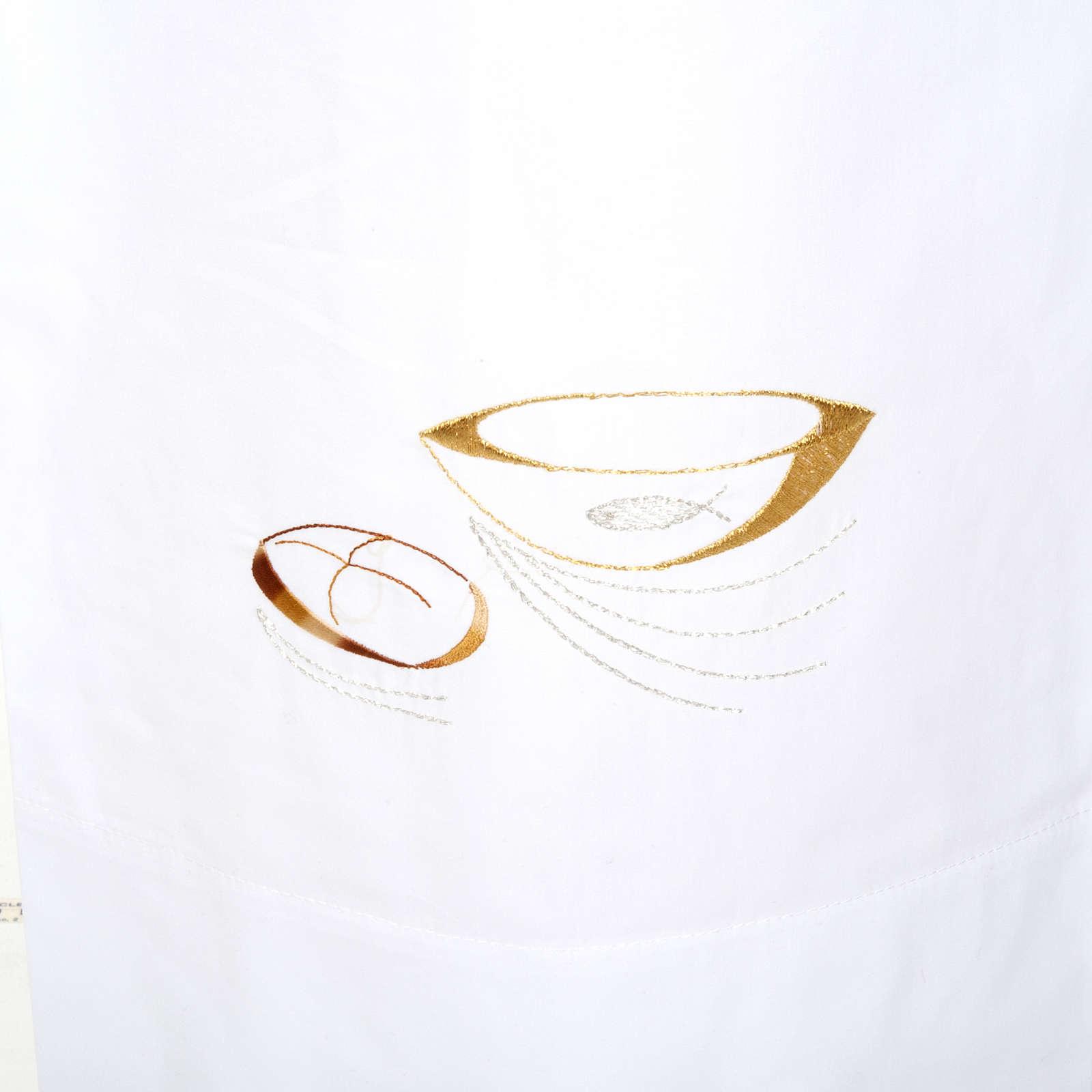 Camice bianco lana pani e pesci 4