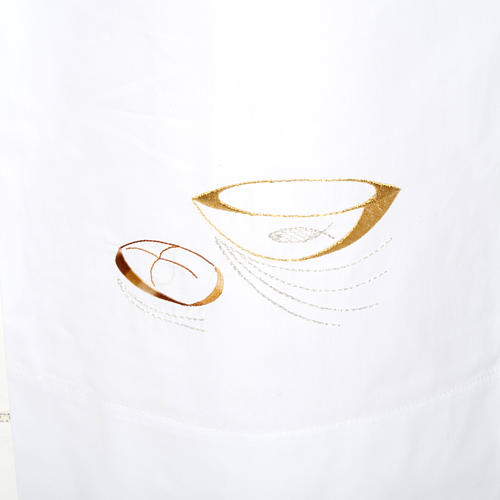 Camice bianco lana pani e pesci 2