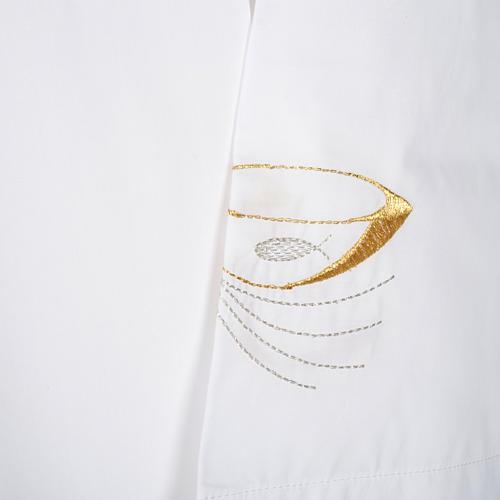 Camice bianco lana pani e pesci 3
