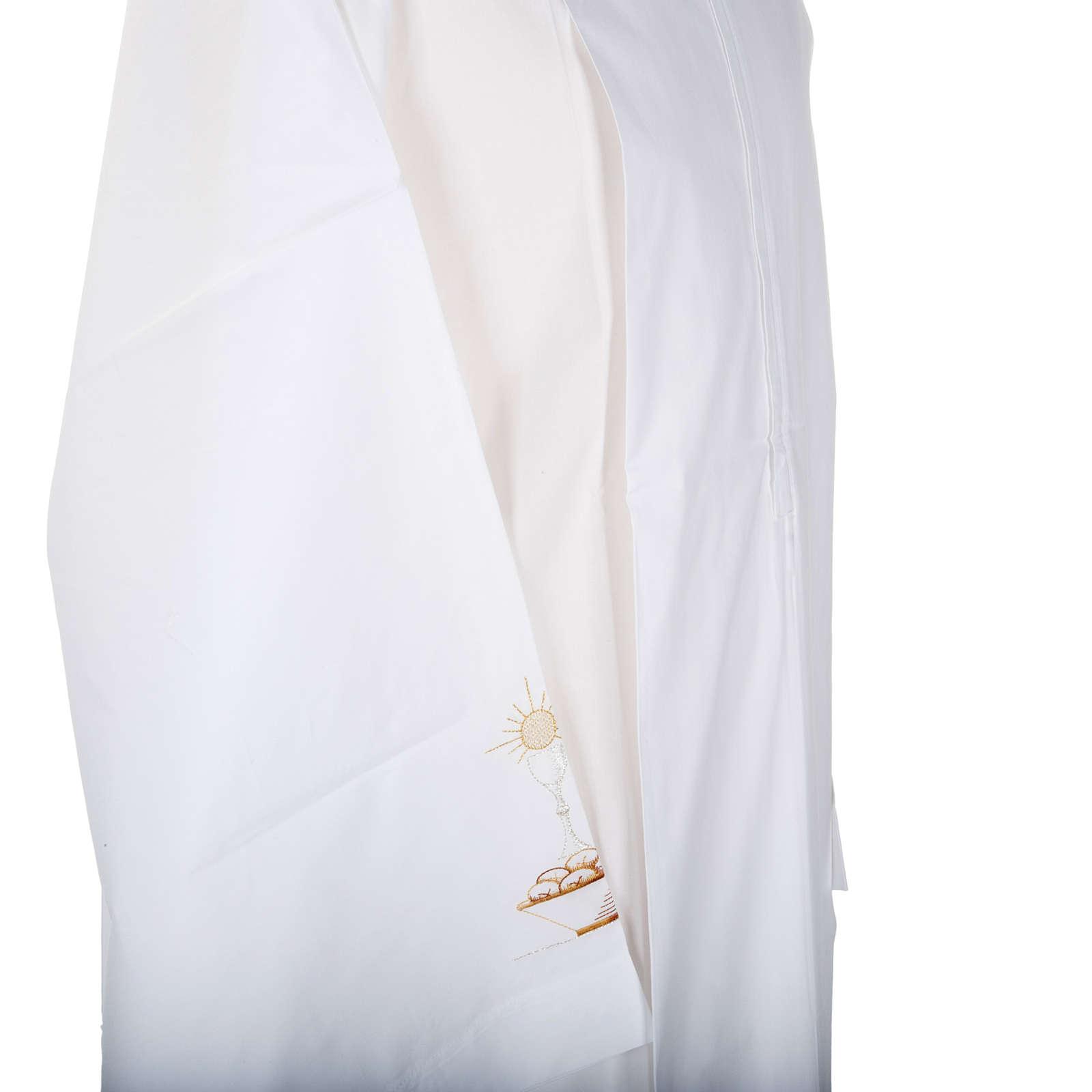 Camice bianco lana calice pane 4