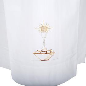 Camice bianco lana calice pane s2