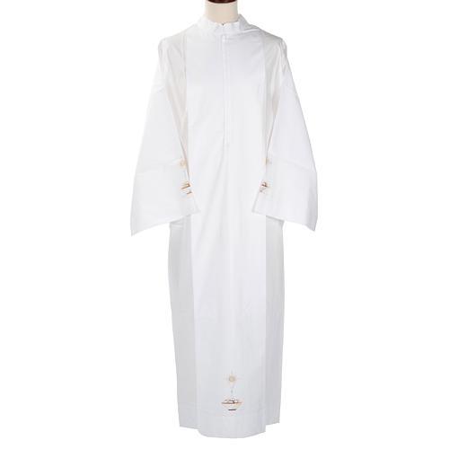 Camice bianco lana calice pane 1