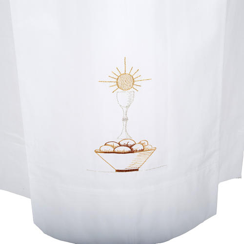 Camice bianco lana calice pane 2