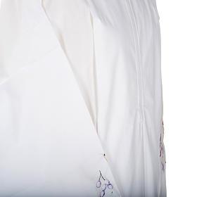 Camice bianco lana calice uva s3