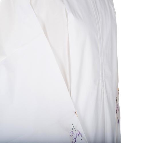 Camice bianco lana calice uva 3