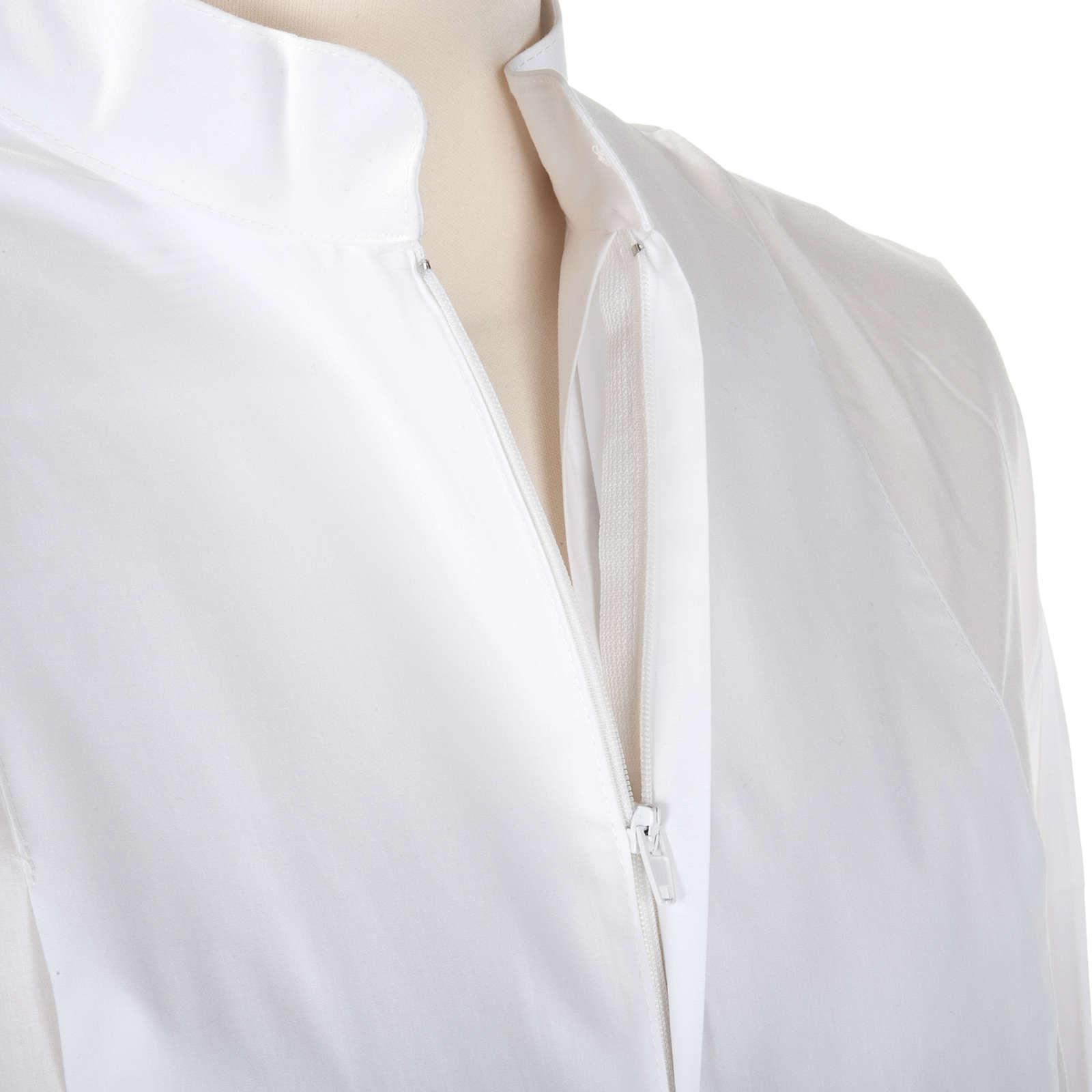 Camice bianco lana croce dorata 4