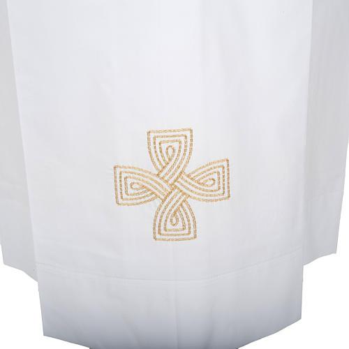 Camice bianco lana croce dorata 2