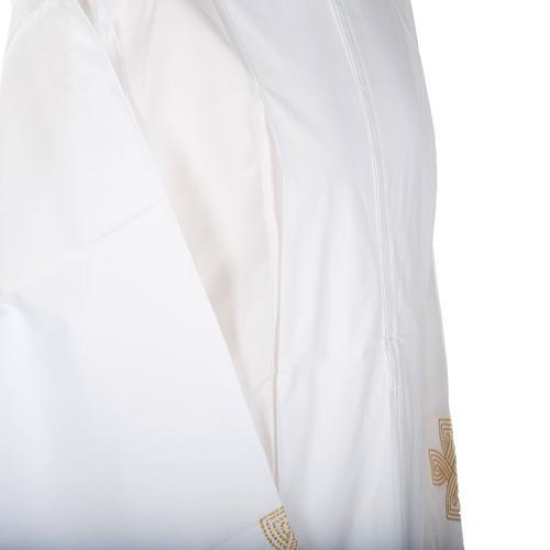Camice bianco lana croce dorata 3